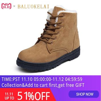 bb5060115 Brown Snow Boots Fashion Warm Flock Winter Boots New Arrival Wom