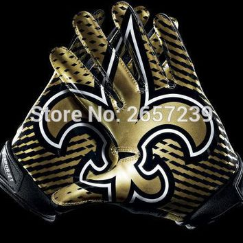 New Orleans Saints  Gloves Flag 3x5FT NFL banner150X90CM 100D  Polyester brass grommets custom flag, Free Shipping