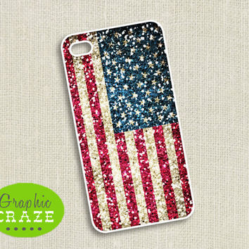iPhone 4/4s/5 Case  Glitter American Flag by GraphicCraze on Etsy