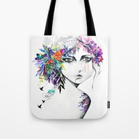 Exotic Girl Tote Bag by Holly Sharpe