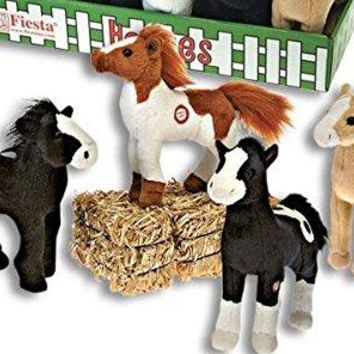 Fiesta Toy 8 Inch Standing Plush Horses Makes Neighing Sounds Pony Stuffed AnimalsFiesta Toy 8 Inch Standing Plush Horses Makes Neighing Sounds Pony Stuffed Animals (4 Horse Set)