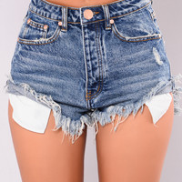 Carlibela Denim Shorts - Medium Blue