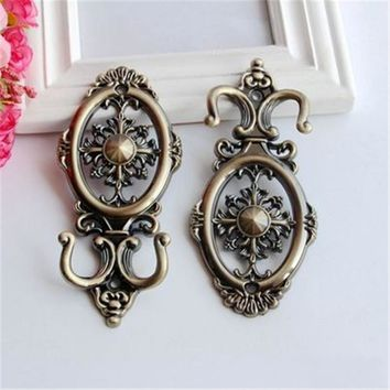2017 Flower Curtain Tie Back Wall Hooks Zinc Alloy Tieback Holders Hat Coat Robe Hanger Accessories Home Decor