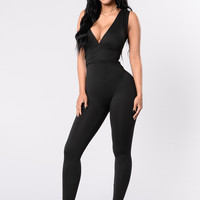 Do No Wrong Jumpsuit - Black