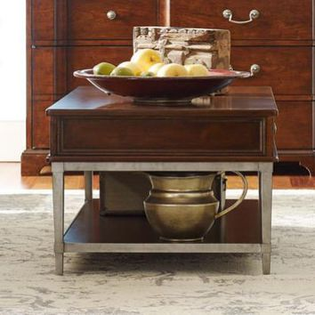 6040-401 Upstate Cocktail Table With Metal Base