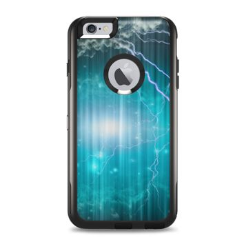 The Teal Twilight Zone with Strikes of Lightening Apple iPhone 6 Plus Otterbox Commuter Case Skin