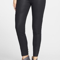 Junior Women's Articles of Society 'Mya' Coated Skinny Jeans (Moto)