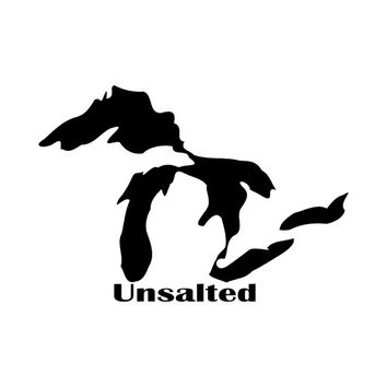 Michigan Great Lakes Unsalted Decal