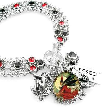 Wicked Witch Crystal Charm Bracelet