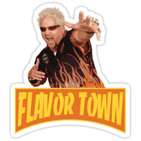'FLAVOR TOWN USA - GUY FlERl' Sticker by SheebsCO