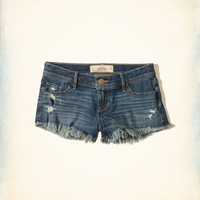 Girls Ultra Low-Rise Denim Boyfriend Shorts | Girls Bottoms | HollisterCo.com