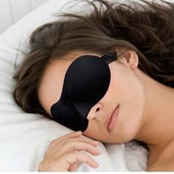 1PCS Travel Sleeping Comfort Rest 3D Eye Mask, Shade Sponge Cover Blinder Blindfold [7943188935]