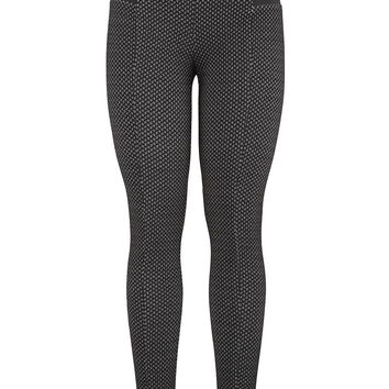 The Skinny Knit Pant With Textured Fabric - Black Combo