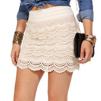 Cream Crochet Skirt