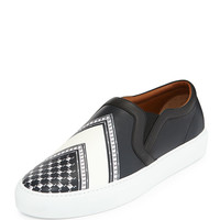 Keffiah-Print Leather Skate Shoe - Givenchy