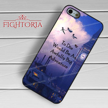 Peter Pan Quotes - zzZzz for  iPhone 4/4S/5/5S/5C/6/6+s,Samsung S3/S4/S5/S6 Regular/S6 Edge,Samsung Note 3/4