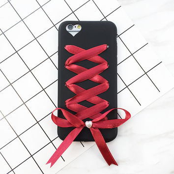 Bowknot Cover for iPhone 7 6 6S Plus