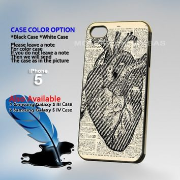 Vintage Medical Diagram Anatomi Photo Hard Plastic iPhone 5 Case Cover