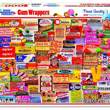 GUM WRAPPERS - 1000 Piece Jigsaw Puzzle