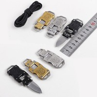 Outdoor EDC Multi Functional Tools Survival Knife Mini Key Ring Portable Cutter Camping Blade Fold Compact Hiking Mountaineering