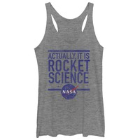 Nasa Women's - It is Rocket Science Racerback Tank
