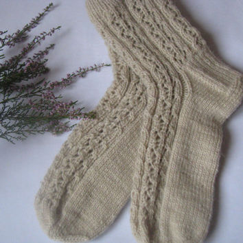 hand knitted women  wool socks