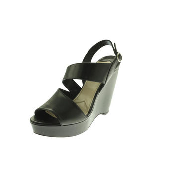 Prada Womens Vit Lux Leather Platform Wedges