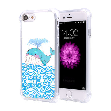 For Coque iPhone 7 Case Stylish Shockproof Phone Cases For iPhone 7 Plus Cover Hybrid Rubber Armor Transparent Soft TPU Coque