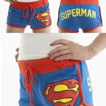 Superman Supergirl Women Girl Hot Sexy Blue Cheeky Summer Boy Ass Booty Shorts