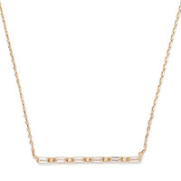Rhinestoned Matchstick Pendant Necklace