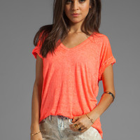 Free People Keep Me Tee in Hot Coral from REVOLVEclothing.com