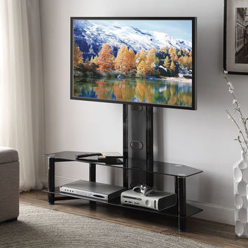 Tiajo Black Glass TV stand 91715