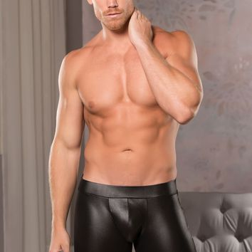 Men's Wet Look Open Back Shorts