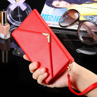 PU Leather Wallet Case For iPhone 7 6 6s Plus with Card Holder Photo Flip Cover Woman Girly Coque For iPhone 6 6s 7 Plus
