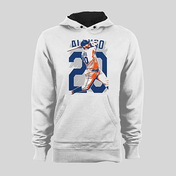 NEW YORK'S PETE ALONSO #20 CUSTOM SPLASH ART BASEBALL SWEATER / HOODIE