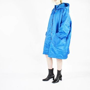 OS PUFFER jacket lightweight blue oversized puffer jacket