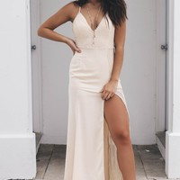 Positive Perspective Almond Lace Maxi Dress