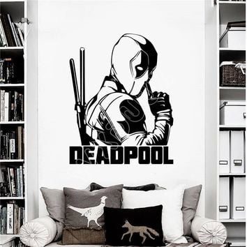 Deadpool Dead pool Taco WXDUUZ  Marvel Superhero Children's Decal Wall Art Sticker/Decal Wall Sticker Home Decor Wall Decals B512 AT_70_6