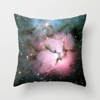Nebula bright stars galaxy hipster geek cool space photograph  Throw Pillow by iGallery