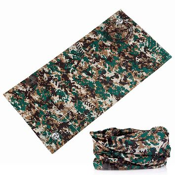 361-380 Army Bicycle Motorcycle camouflage Variety Turban Bandanas Magic Scarf Headband Veil Multi Head Scarf Scarves Headwear