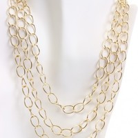 Gold Multi Chain Link Stylish Necklace
