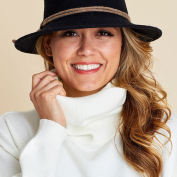 Shihreen Wool Felt Floppy Hat