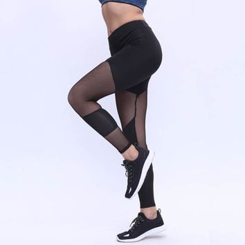 Patchwork Leggings Women's Fashion Hot Sale Pants Yoga Sports Sportswear [11709078214]