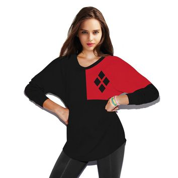 Harajuku 3D Harley Quinn Printed Fashion Sweatshirt Fitness Jogger For Women 2016 New Autumn Full Sleeve O neck Casual Tracksuit