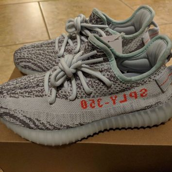 Adidas X Kanye West Yeezy Boost 350 V2 Blue Tint Light Grey B37571 New Fast Ship - Ready Stock