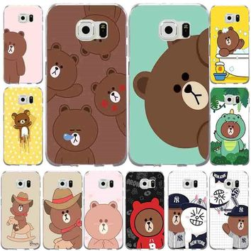 Cute Rilakkuma Bear Rubber Soft TPU Mobile Phone Cases For Samsung Galaxy S3 S4 S5 S6 S7 Edge S8 S8Plus S9 S9Plus Cover