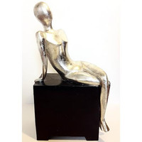 Silver Austin Productions Sculpture Right Repose by Carolyn Kinder Statue