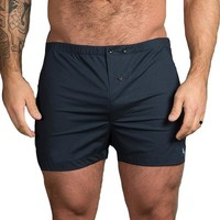 Solid Navy Blue Boxer Short - Blade