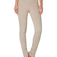 Skinny Ponte Dress Pants W/ Elastic Waistband