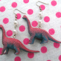 Darling Lolita Brontosaurus Dinosaur Earrings